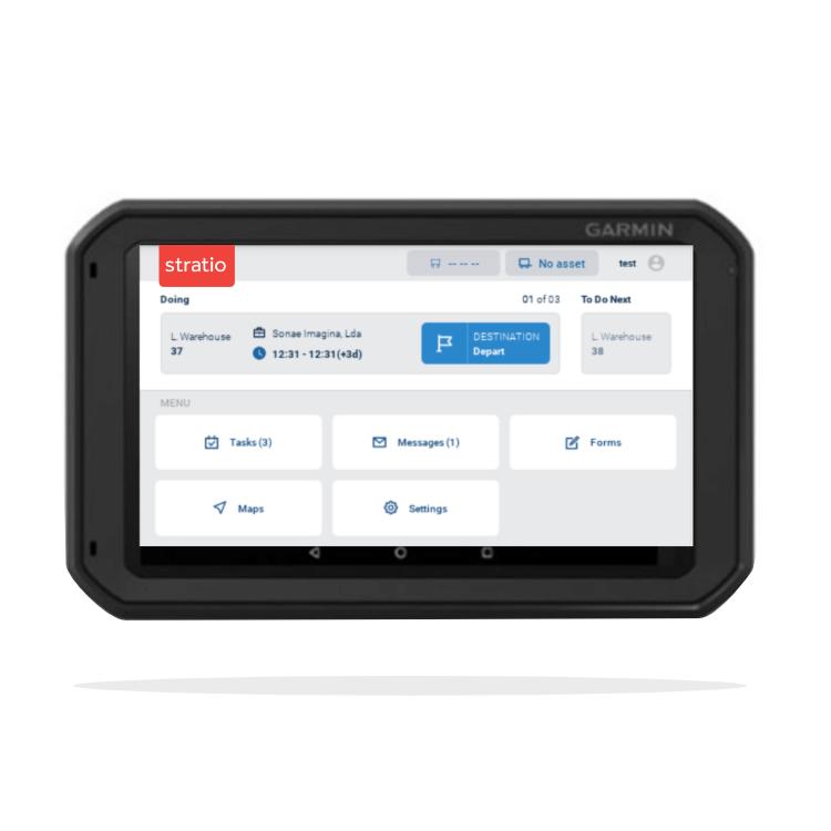 Garmin vehicle tablet integration