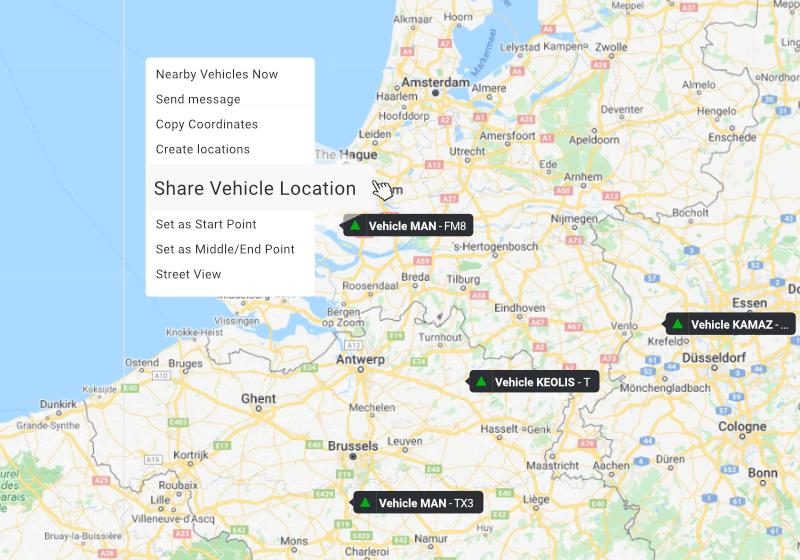 Share vehicle location